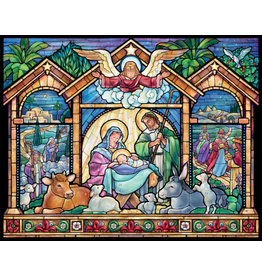 ADVENT CALENDAR STAINED GLASS NATIVITY