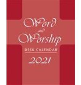 2021 Calendar (Desk) Word & Worship