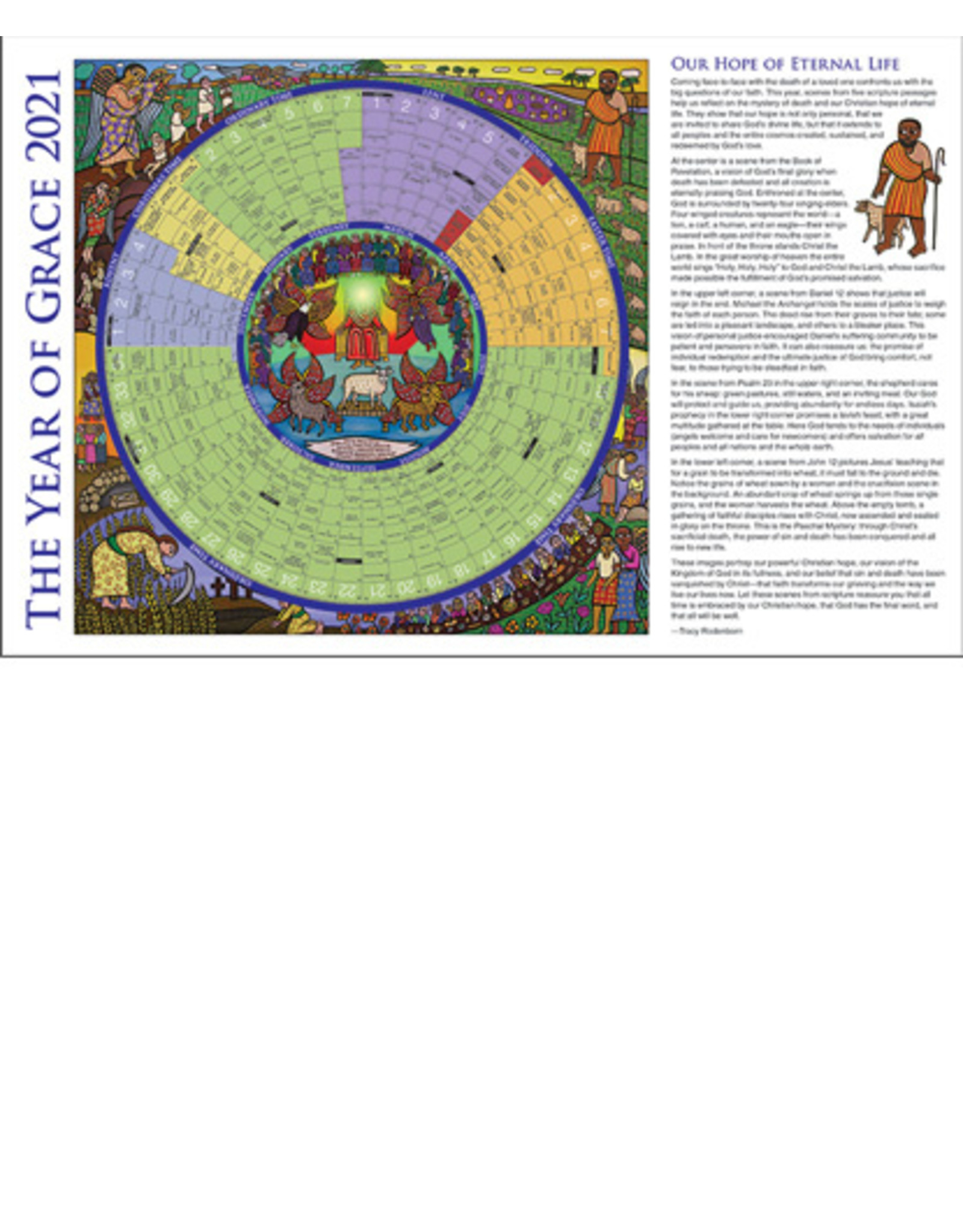 2021 Year of Grace Calendar - Laminated Placemat Size