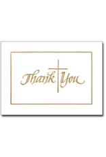 Boxed Cards - Thank You Gold Cross (Pack of 12)