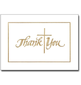 Boxed Cards Thank You Gold Embossed (12)