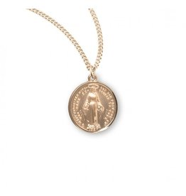 Gold Over Sterling Silver Round Miraculous Medal