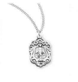 Sterling Silver Miraculous Medal Fancy