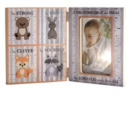 Baptism Picture Frame - All Creatures for 4x6 Photo