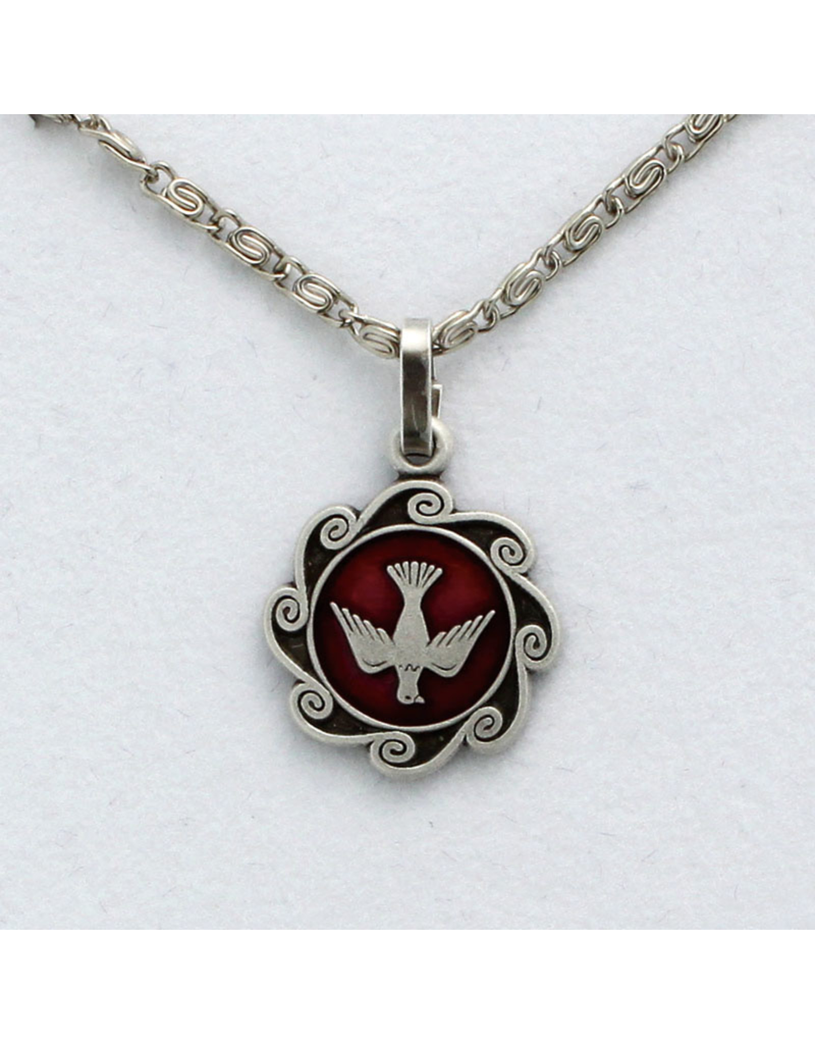 Necklace Holy Spirit with Scroll Chain