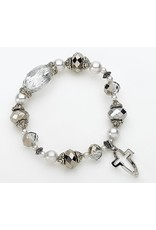Cross/Fish Silver Bracelet