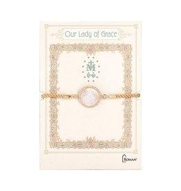 Our Lady of Grace Shell Bracelet