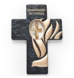 """Black and Gold Confirmation Cross, 7"""""""