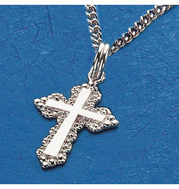 "Medal Cross Sterling Silver/18"" Chain"
