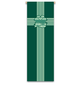BANNER EUCHARIST GREEN 9-7/8X3-1/4