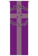 Crown/Nails/Cross Purple Banner