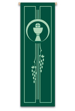 Green Chalice with Host & Grapes Banner