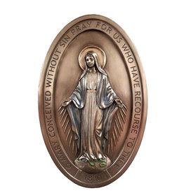 Plaque Miraculous Medal 5X8 Bronze