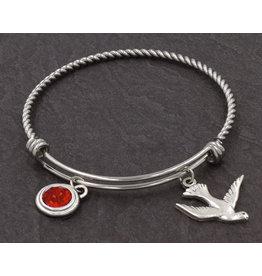 Bracelet - Holy Spirit Dove Charm Stainless Steel