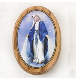 Rosary Box Our Lady of Grace Olive Wood
