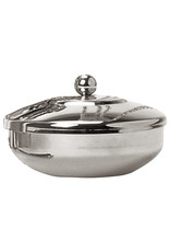 Ash Holder with Lid, Nickel