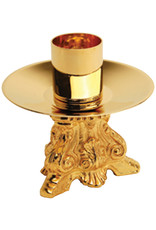 """3.25"""" Gold Plated Candlestick"""