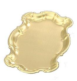Cruet Tray 9-1/4x6 Brass/Lacquer