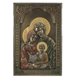 Plaque Holy Family Bronze 6X9