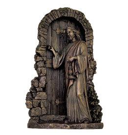 "Statue Christ Knocking 9.5"" Bronze"