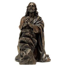 "Statue Christ Praying 7.5"" Bronze"