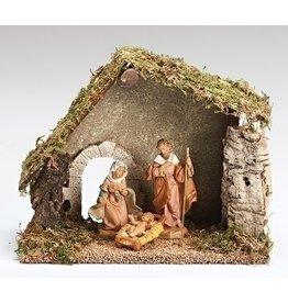 Fontanini Nativity with Italian Stable