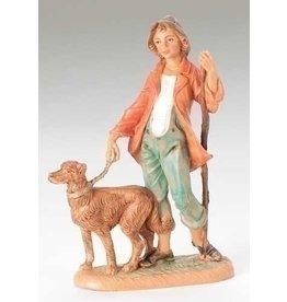 "Fontanini Zachariah with Dog 5"""