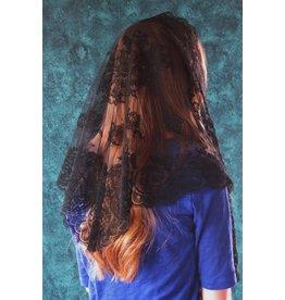 Veil - Authentic Spanish Floral - Black
