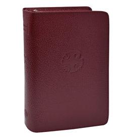 Large Type Christian Prayer Leather Zipper Case