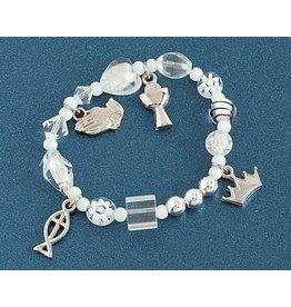 First Communion Bracelet - Apostle's Creed (White)