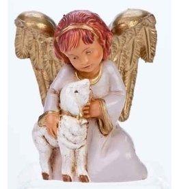 "Fontanini Adina, Angel Holding Lamb 5"""