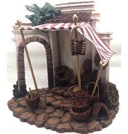 Fontanini Lighted Basket Shop