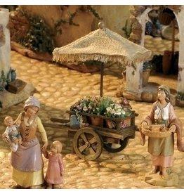 "Fontanini Flower Cart 5"""