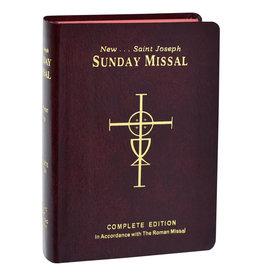 St. Joseph Sunday Missal-Red Flex Cover