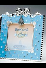 Baptism Frame Blue Enamel