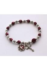 Bracelet Holy Spirit Medal/Burgundy