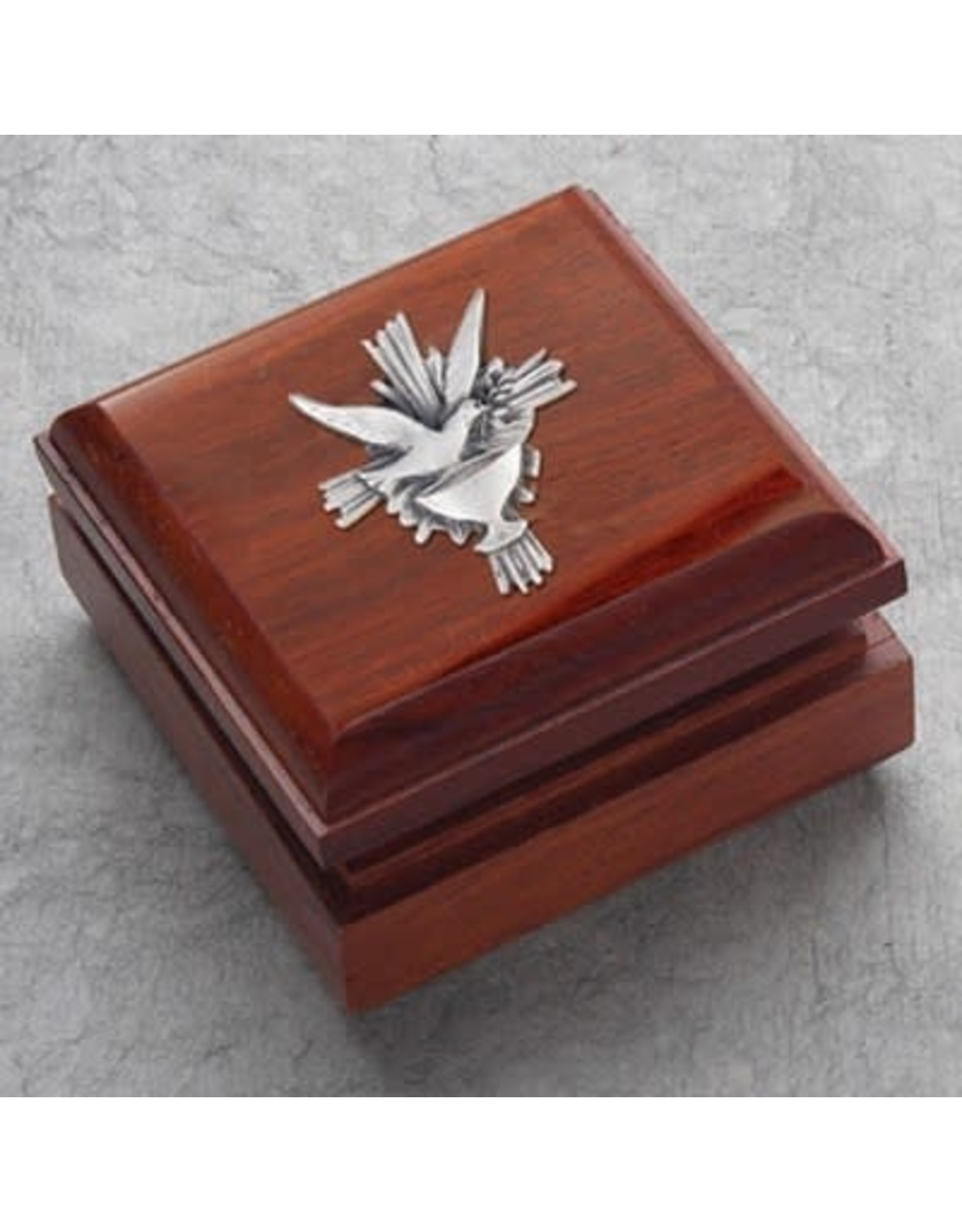 Rosewood Box with Pewter Holy Spirit
