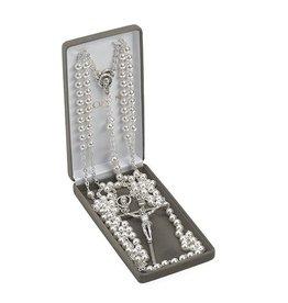 Silver Lasso Wedding Rosary