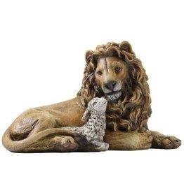 """Statue Lion & Lamb 6.5"""""""