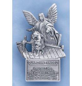 Visor Clip Guardian Angel Protect Me Pewter