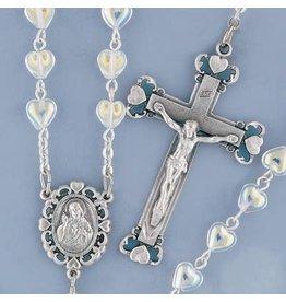 Rosary Crystal Heart Aurora Borealis