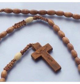 Rosary Brown/Macrame Cord/Wood