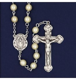 Rosary Pearl, Genuine Sterling Silver