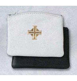 Rosary Case Black Leather Zip