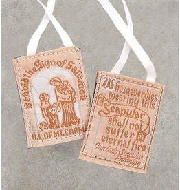 Scapular White Cloth/Cotton Cord
