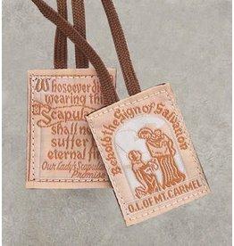 Scapular Brown Cloth/Cotton Cord