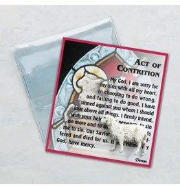 Act of Contrition Holy Card & Sheep Token