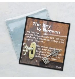 Key to Heaven Prayer Card & Token