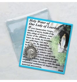 Our Lady of Lourdes Medal w/Holy Water & Prayer Card
