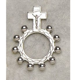 Silver Rosary Ring with Holy Card (not pictured)
